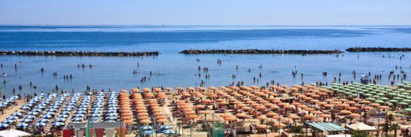 La spiaggia Solaria di Bellaria Igea Marina
